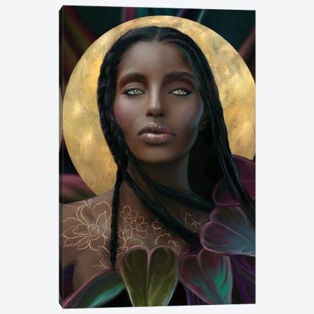 GoldMoon Canvas Print #JLO13} by Juliana Loomer Canvas Artwork