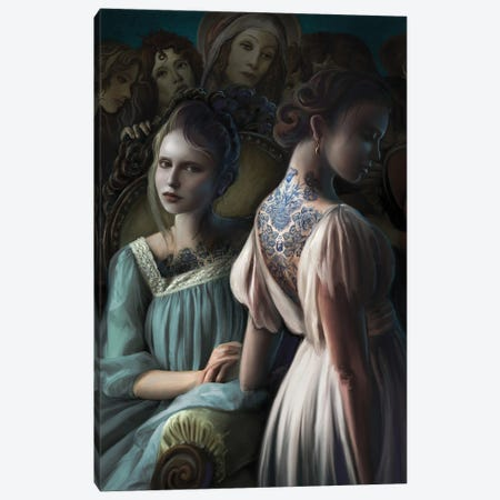 Painted Ladies Canvas Print #JLO16} by Juliana Loomer Canvas Print