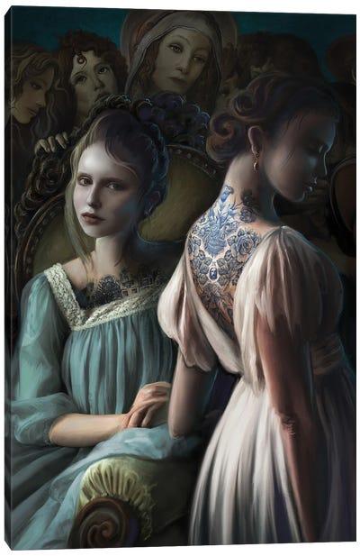 Painted Ladies Canvas Art Print