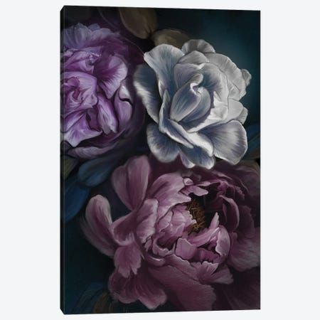 Purple Peony 3-Piece Canvas #JLO18} by Juliana Loomer Canvas Artwork