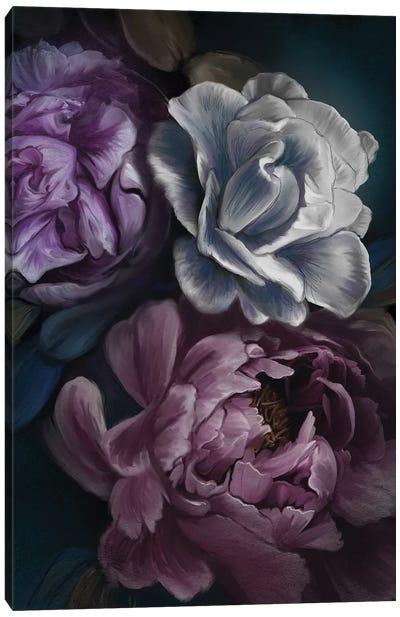 Purple Peony Canvas Art Print