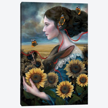Sunny Canvas Print #JLO25} by Juliana Loomer Canvas Art
