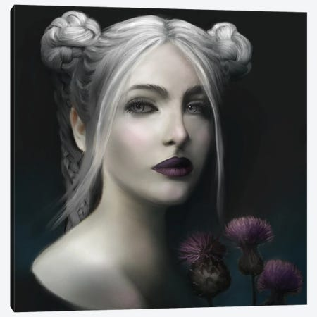 White Queen Canvas Print #JLO27} by Juliana Loomer Canvas Wall Art