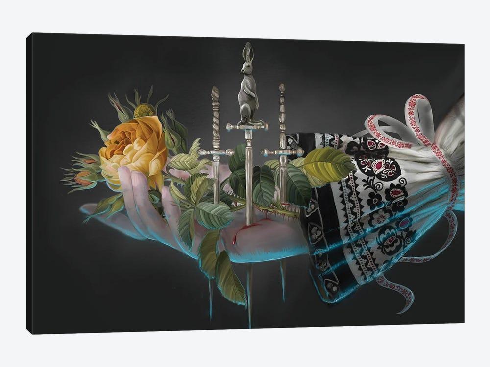 Yellow Rose by Juliana Loomer 1-piece Canvas Art