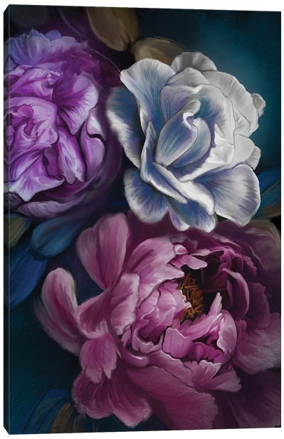Dark Flowers Canvas Art Print