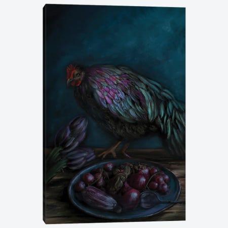 Black And Blue Canvas Print #JLO5} by Juliana Loomer Canvas Art Print