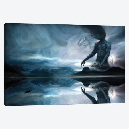 Calling The Jotun Canvas Print #JLO7} by Juliana Loomer Canvas Art Print