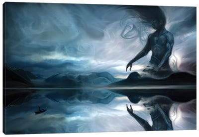 Calling The Jotun Canvas Art Print
