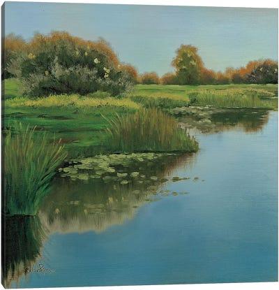 Yellow Sky & Reflection Canvas Art Print