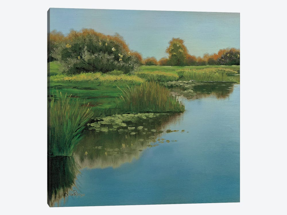 Yellow Sky & Reflection by Julie Peterson 1-piece Canvas Print