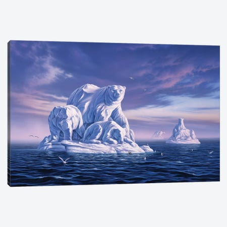 Icebergs Canvas Print #JLR11} by Jerry Lofaro Canvas Art Print