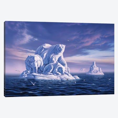 Icebergs Canvas Print #JLR11} by Jerry Lofaro Canvas Art Print