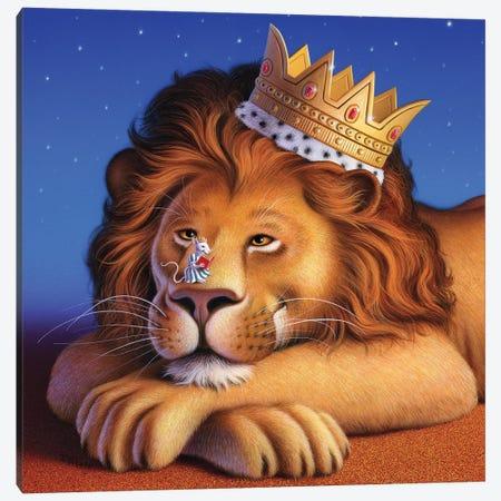 Lion King & Mouse Canvas Print #JLR13} by Jerry Lofaro Canvas Print