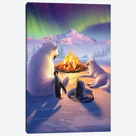 Polar Pals Canvas Print #JLR19} by Jerry Lofaro Canvas Print