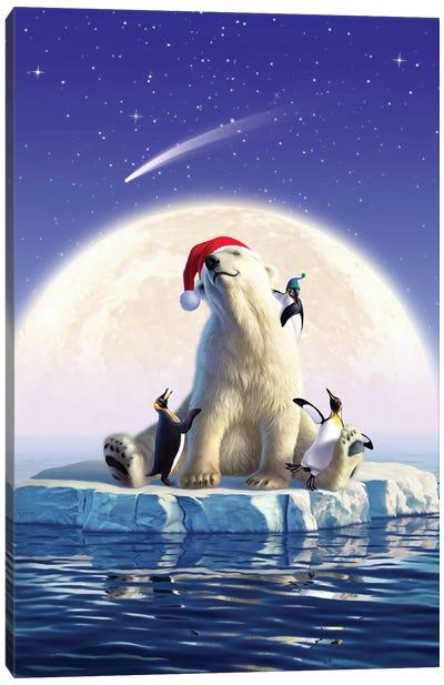 Polarbearmoon Canvas Art Print