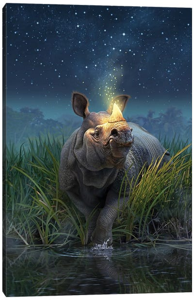 Rhinocerosunicornis Canvas Art Print
