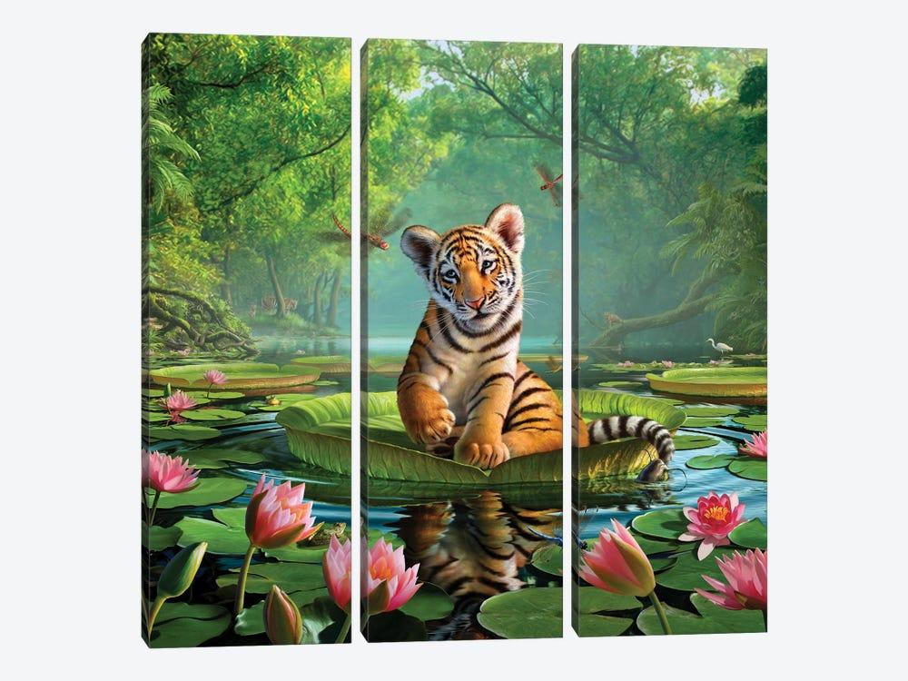 Tiger Lily by Jerry Lofaro 3-piece Canvas Print