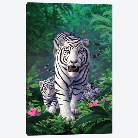 Whitetigers Canvas Print #JLR28} by Jerry Lofaro Canvas Wall Art