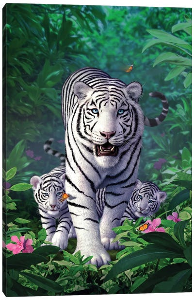 Whitetigers Canvas Art Print