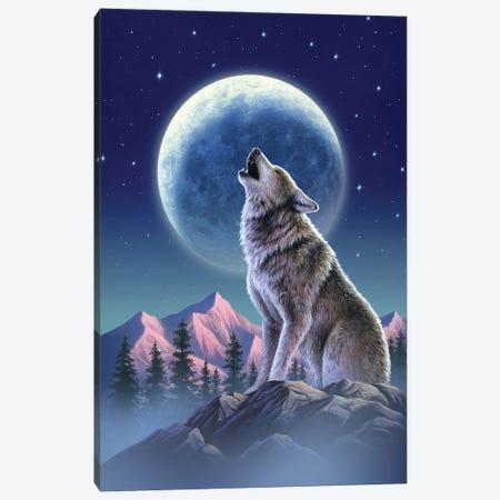 Wolfmoon Canvas Print #JLR29} by Jerry Lofaro Canvas Artwork