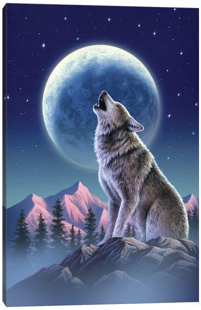 Wolfmoon Canvas Art Print