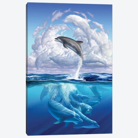 Dolphonic Symphony Canvas Print #JLR8} by Jerry Lofaro Canvas Wall Art
