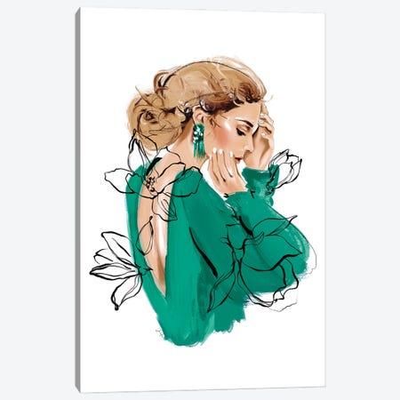 Emerald Beauty Canvas Print #JLT25} by Janka Letková Art Print