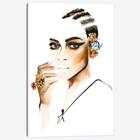 Versace SS '19 Canvas Print #JLT40} by Janka Letková Canvas Wall Art