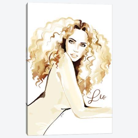 Leo Canvas Print #JLT62} by Janka Letková Canvas Artwork