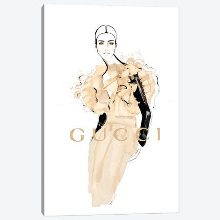 Iconic Gucci Canvas Print #JLT8} by Janka Letková Canvas Wall Art