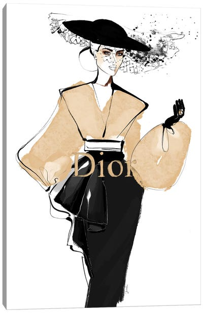 Iconic Dior Canvas Art Print