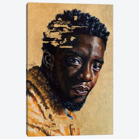 Chadwick Boseman Canvas Print #JLU10} by Jackie Liu Canvas Artwork