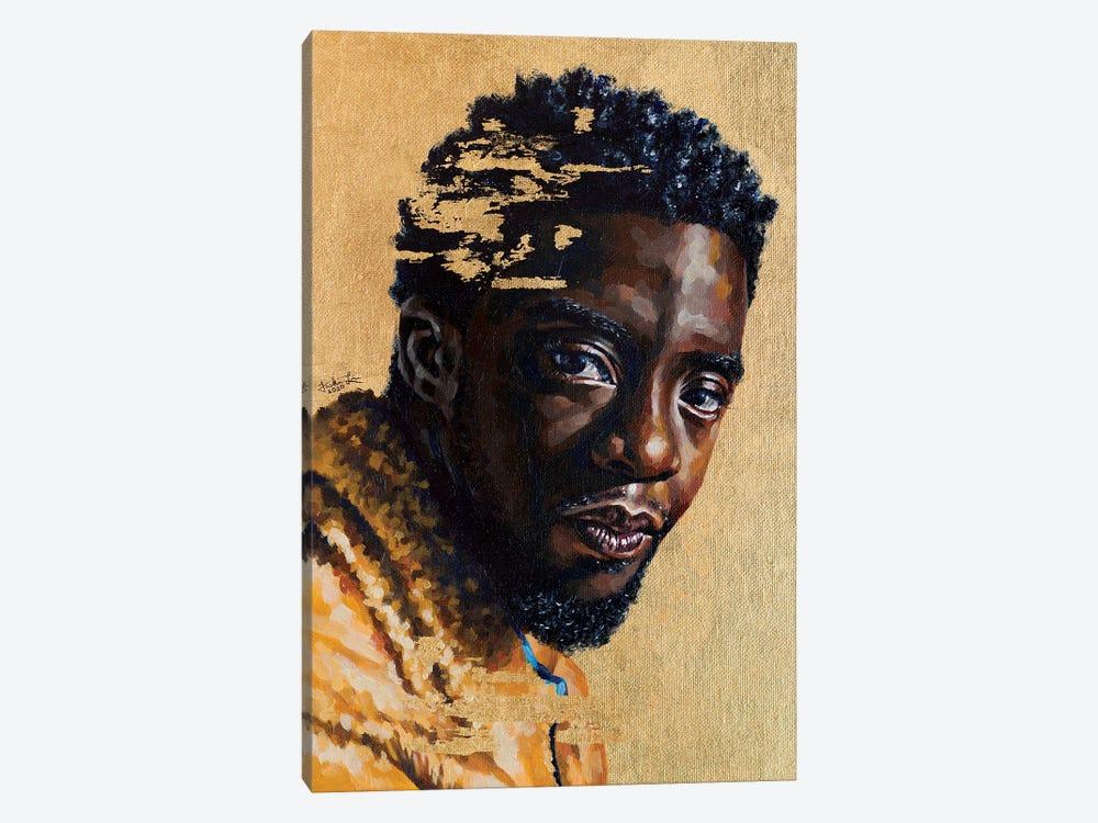 Chadwick Boseman by Jackie Liu 1-piece Canvas Wall Art