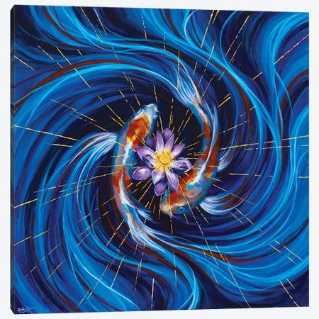 Eye Of The Storm Canvas Print #JLU11} by Jackie Liu Canvas Artwork