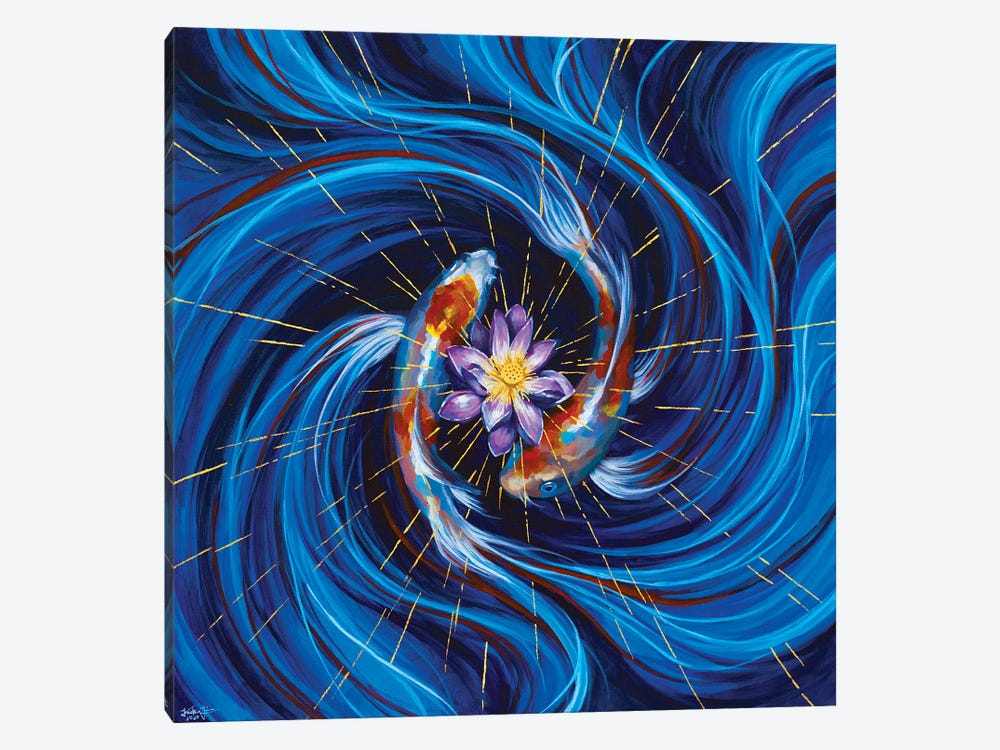 Eye Of The Storm by Jackie Liu 1-piece Canvas Art Print