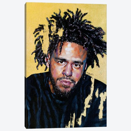 J. Cole Canvas Print #JLU13} by Jackie Liu Canvas Artwork