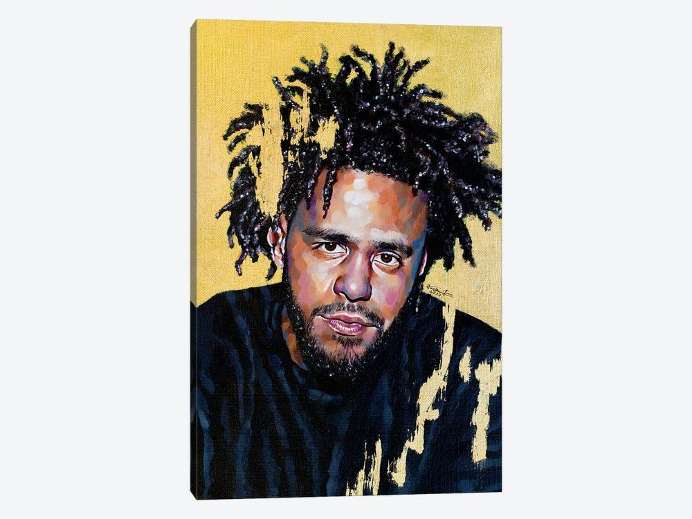 J. Cole by Jackie Liu 1-piece Canvas Art Print