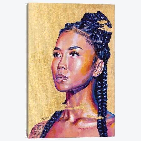 Jhené Aiko Canvas Print #JLU14} by Jackie Liu Canvas Art Print