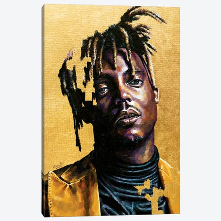Juice Wrld Canvas Print #JLU15} by Jackie Liu Canvas Art Print