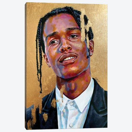 Asap Rocky Canvas Print #JLU1} by Jackie Liu Canvas Print