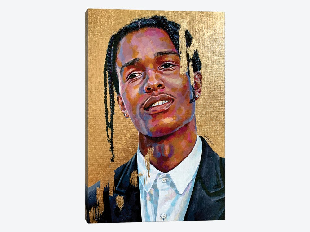 Asap Rocky by Jackie Liu 1-piece Canvas Artwork
