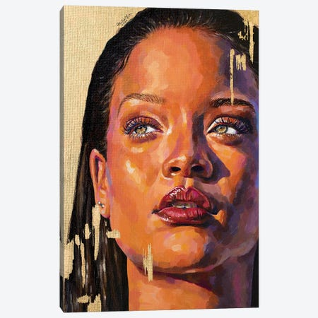 Rihanna Canvas Print #JLU21} by Jackie Liu Art Print