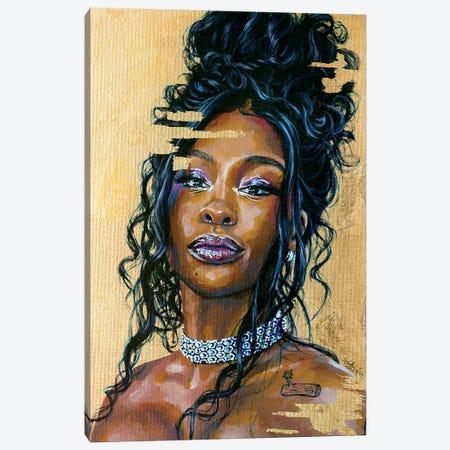 Sza Canvas Print #JLU23} by Jackie Liu Canvas Print