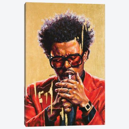 The Weeknd Canvas Print #JLU24} by Jackie Liu Canvas Art