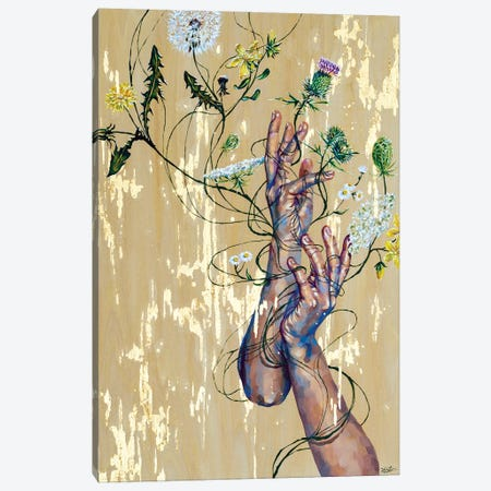 Weeds Canvas Print #JLU26} by Jackie Liu Canvas Artwork
