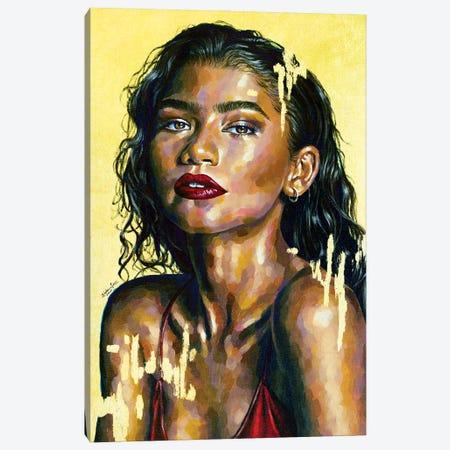Zendaya Canvas Print #JLU27} by Jackie Liu Canvas Art