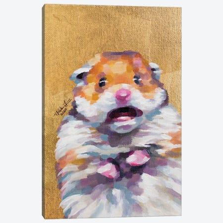 Hamster Meme Canvas Print #JLU31} by Jackie Liu Canvas Wall Art