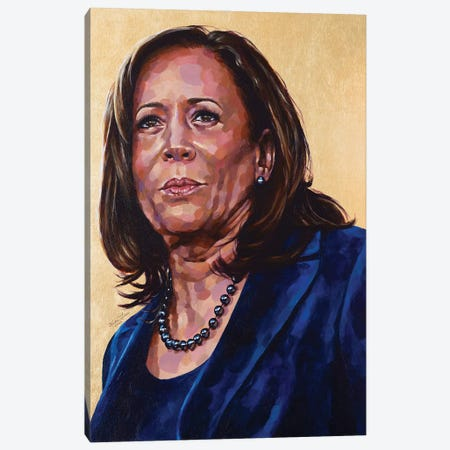Madam Vice President Canvas Print #JLU34} by Jackie Liu Canvas Art Print