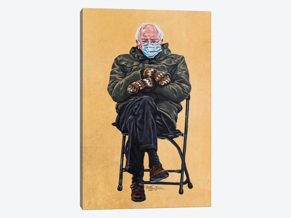 Bernie by Jackie Liu 1-piece Canvas Artwork