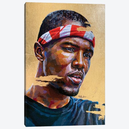 Frank Ocean Canvas Print #JLU3} by Jackie Liu Canvas Print